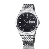 Reloj barato de los pares de la visualización de la semana y de la fecha del acero inoxidable de la joyería