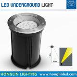 Ángulo de luz LED ajustable de 18W luz subterránea al aire libre