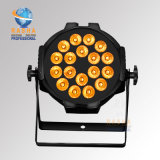RoHS Certiificate Fabrik-Preis 18LEDs*10W RGBA/RGBW DMX512 LED NENNWERT Licht mit Powercon für Nachtklub-Disco-Partei-Ereignis