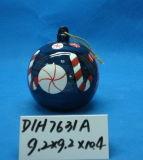 Bola de cerámica colgante redonda para la decoración de árboles de Navidad