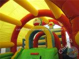Campo da giuoco gonfiabile con il tetto/campo da giuoco gonfiabile dei bambini