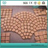 Pórfido rojo mosaico de piedra losa, Pavimentadora, cantos rodados de piedra, Cubestone