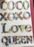 Алфавит любви Rhinestone дизайн передачи тепла для Tshirts (HF-любви)