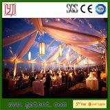 Tenda de festa bonita com revestimento de telhado e venda de decoração de cortinas na África do Sul