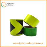 Etiquetas engomadas reflexivas adhesivas del vinilo de la flecha, cinta reflexiva de la hoja del PVC de la seguridad colorida