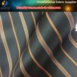 ジャケット(S2.5)のための現金商品のポリエステル縞の織布