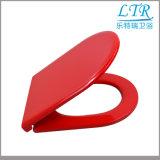 Asiento de tocador rojo de los accesorios del cierre sanitario de la suavidad