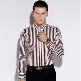 Katoenen van 100% de Lange Overhemden Van de Bedrijfs koker van de Formele kleding met Keperstof