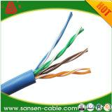 Cabo de Ethernet Calibre de diâmetro de fios do gato 5e UTP 24 de LSZH Cmr