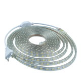 Tira flexible impermeable de SMD5050 AC220V LED con el enchufe de la UE