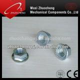 Noix galvanisée de la bride DIN6923 d'acier du carbone