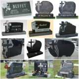 European Customized Carving Granite Cross Headstone / Tombstone / Monument