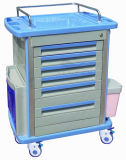 Do ABS AG-Mt001A1 trole médico material 6-Drawer luxuoso
