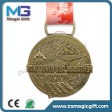 熱い販売によってカスタマイズされる金属3D旧式な銅メダル