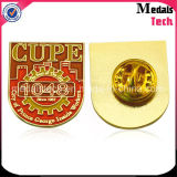Perni poco costosi su ordinazione promozionali del risvolto del metallo placcati oro