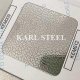 Feuille gravée en relief par Kem012 d'acier inoxydable de la qualité 201