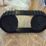 Trilha da borracha do projeto 76mm da ciência para integrações seguidas do robô