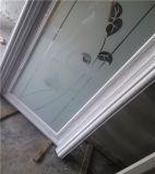 Puerta de aluminio del vidrio helado del marco