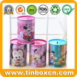 Round Metal Tin Money for Box Coin Bank Packaging