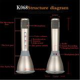 Горячее сбывание 2 в 1 беспроволочном микрофоне K068 Bluetooth Handheld