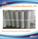 Rullo enorme assorbente 100% della garza della garza del cotone medico della materia prima