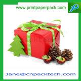 리본을%s 가진 형식 디자인 사각 포장 종이 선물 포장 상자