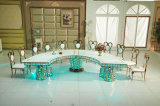 Fancy Golden Semicircle LED Wedding Table Table Table