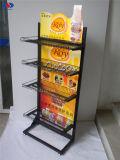 금속 와이어를 가진 금속 전시 슈퍼마켓 선반 광고