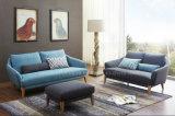 Sofà americano del tessuto di Fiting dell'appartamento di stile Ls0604 con il poggiapiedi