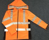 Высокой связанная тесьмой визави куртка Softshell