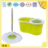 Mop приспособления 360 двойника желтого зеленого цвета волшебный
