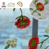 高品質のEurope&Africaのウェディングドレス2017 C10007のための鮮やかな花のネットのレースファブリック