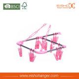 Spitzenlanglebiges gut trifft Verbrauch-rosafarbene Plastikaufhängungs-Klipps hart