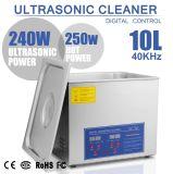 Jps-40A 10L líquido de limpeza ultra-sônico de 2.6 galões com a cesta do aço inoxidável