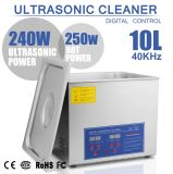 Jps-40A 10L de 2,6 gallon nettoyeur ultrasonique avec panier en acier inoxydable