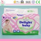 인쇄된 특징 및 비 길쌈된 직물 물자 처분할 수 있는 질 아기 기저귀