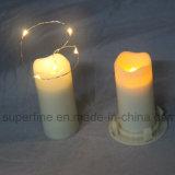 Votive tamaño elegante suave parpadeo de la boda de plástico LED velas con pilas AA