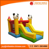 Castillo animoso combinado de la diapositiva grande inflable inflable de la gorila de la panda (T3-220)