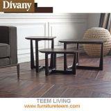 Журнальный стол домашней таблицы Sofa&Bed ног твердой древесины мебели бортовой круглый