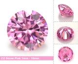 합성 원석이 분홍색 색깔 느슨한 입방 지르코니아에 의하여 돌을 던진다