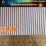Forro de lujo juego de los hombres de poliéster tejido en tela de la raya (S180.181)