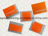 Логос горячего штемпеля белый на ткани померанцового серебра Microfiber полируя