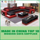 ホーム家具の居間Uの形の革ソファー