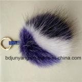 Porte-clés violet mauve en gros 15cm Porte-clés en fourrure à la raccope Pompom