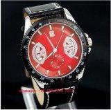 Relógio popular do movimento de quartzo com cinta de couro Fs486