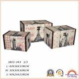 أثاث لازم بينيّة خشبيّة تخزين [جفت بوإكس] مجموعة من 3 شنطة خشبيّة مع رمز أسلوب