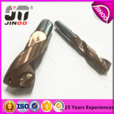 Dígito binario de taladro sólido estándar de torcedura del carburo 2flute del fabricante de Jinoo