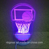 新しい金側面多彩な3D小型夜ランプ