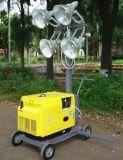Luz da torre/gerador Diesel móvel 4X1000W da torre clara