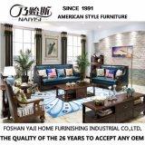 Sala de estar com design moderno mobiliário sofá de couro (como843)